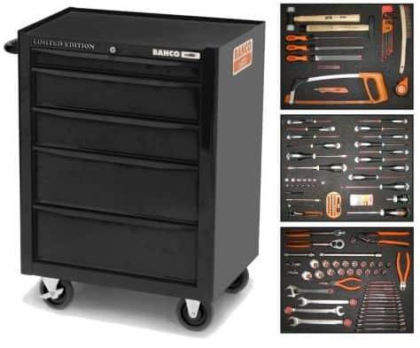 Værkstedskasse med værktøj inkluderet