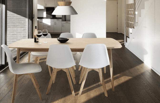 Spisebordssæt hvid