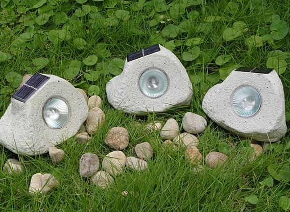 Solcellelampe granit